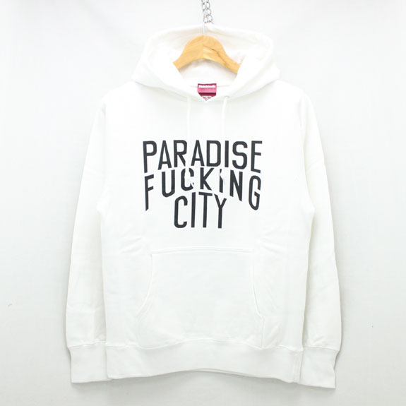 HIDE&SEEK PA FU CITY Sweat Parka:WHITE