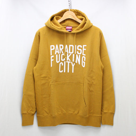 HIDE&SEEK PA FU CITY Sweat Parka:MUSTARD