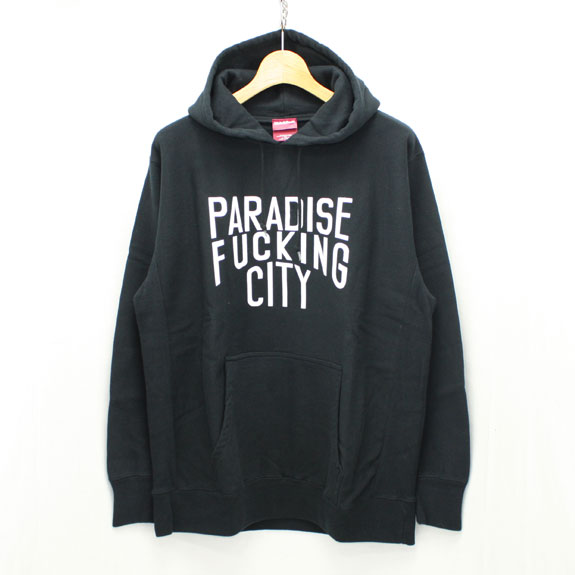 HIDE&SEEK PA FU CITY Sweat Parka:BLACK