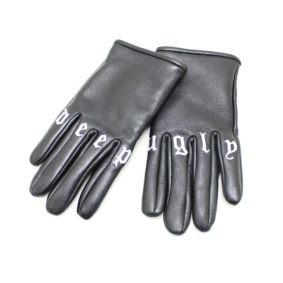 HIDE&SEEK Leather Glove (Deep Ugly):BLACK