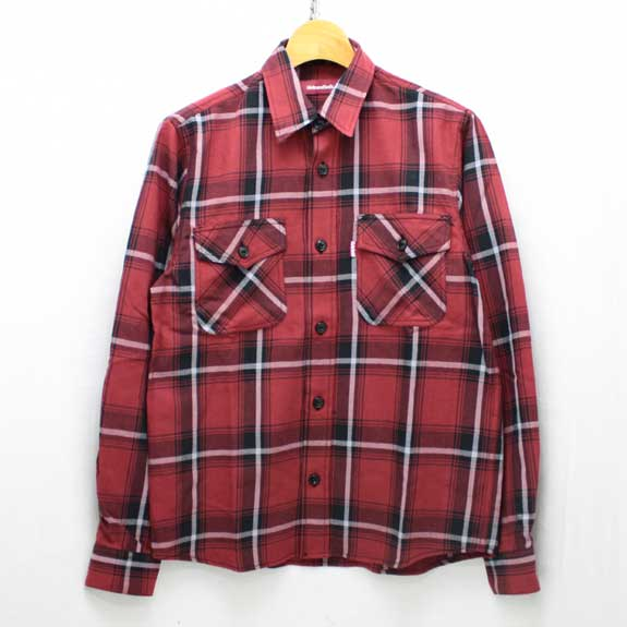 HIDE&SEEK Check L/S Shirt (14sa-1):RED