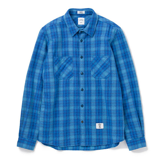 BEDWIN L/S OG FLANNEL CPO SHIRT RICHARDS:BLUE