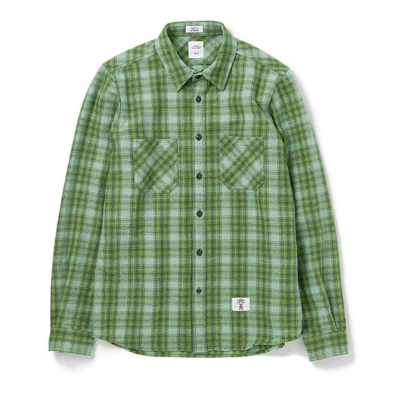 BEDWIN L/S OG FLANNEL CPO SHIRT RICHARDS:GREEN
