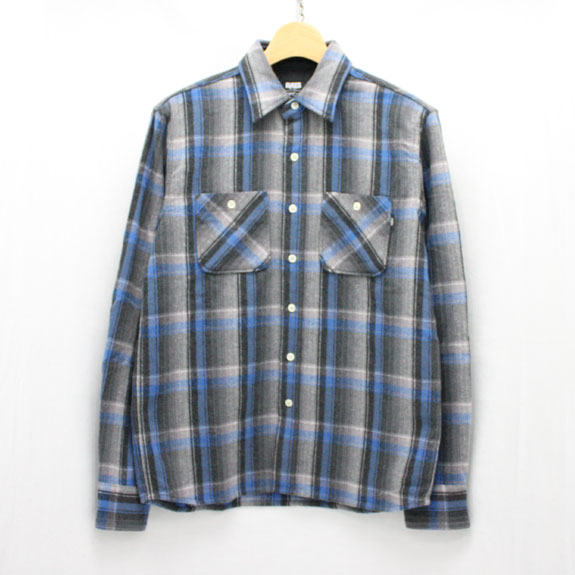 RATS OMBRE CHECK SHIRTS:BLUE