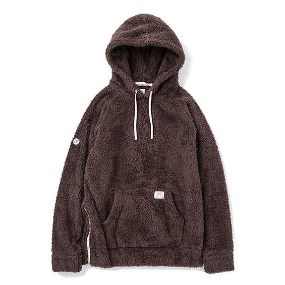 BEDWIN L/S PULLOVER HOODED FLEECE 「UB」 (14aw):BROWN