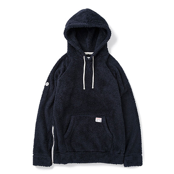 BEDWIN L/S PULLOVER HOODED FLEECE 「UB」 (14aw):NAVY