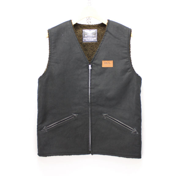 HIDE&SEEK Fatigue VEST (14aw):BLACK