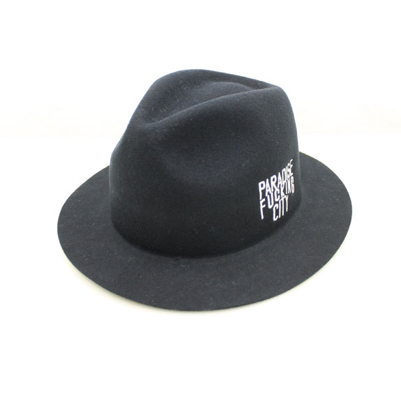 HIDE&SEEK PA FU CITY Melton HAT:BLACK
