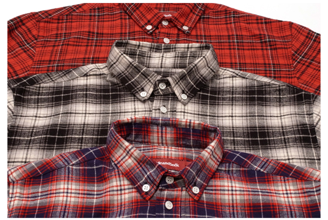 B.D. L/S Shirt (15ss Check) color variation