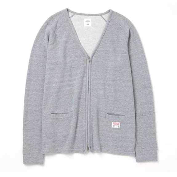 BEDWIN L/S SWEAT CARDIGAN MARC:GREY
