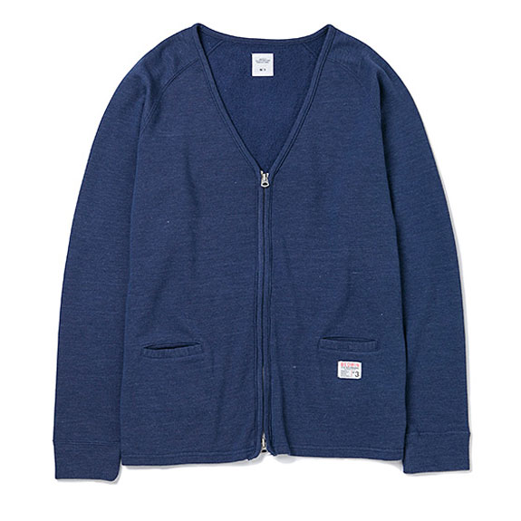 BEDWIN L/S SWEAT CARDIGAN MARC:NAVY