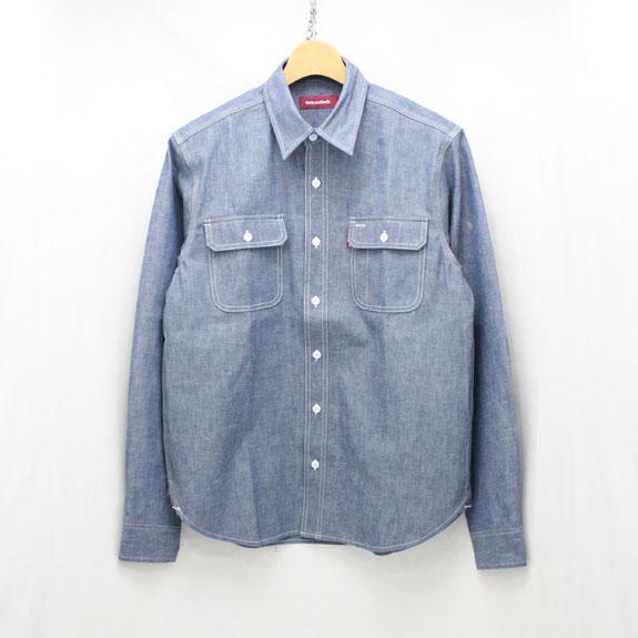 HIDE&SEEK Chambray L/S Shirt (14aw):INDIGO