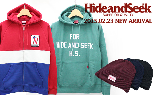 HIDE AND SEEK 2014AW 新作入荷