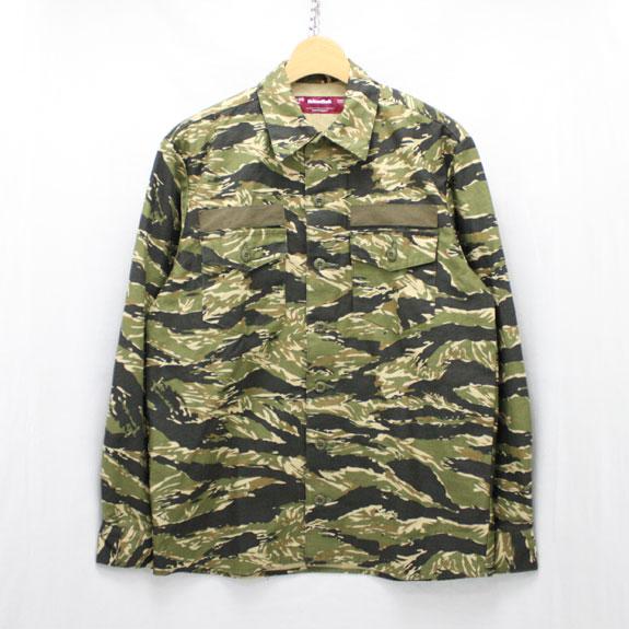 HIDE&SEEK Army Shirt (15ss):TIGER CAMO