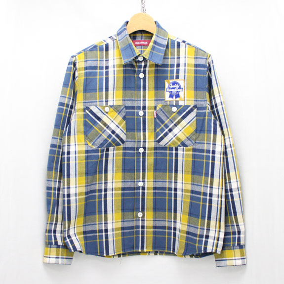 HIDE&SEEK Check L/S Shirt (15ss):YELLOW