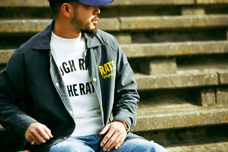 RATS ラッツ 2015 spring summer コレクション カタログ SUMMER COACH JKTの着こなし