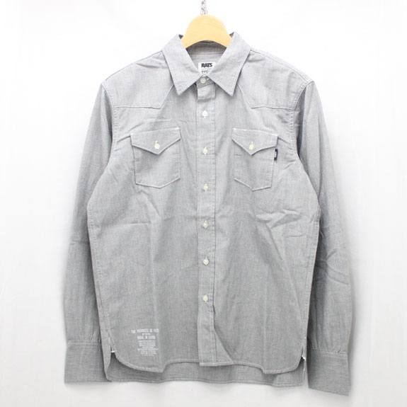 RATS CHAMBRAY WESTERN SHIRTS:BLACK