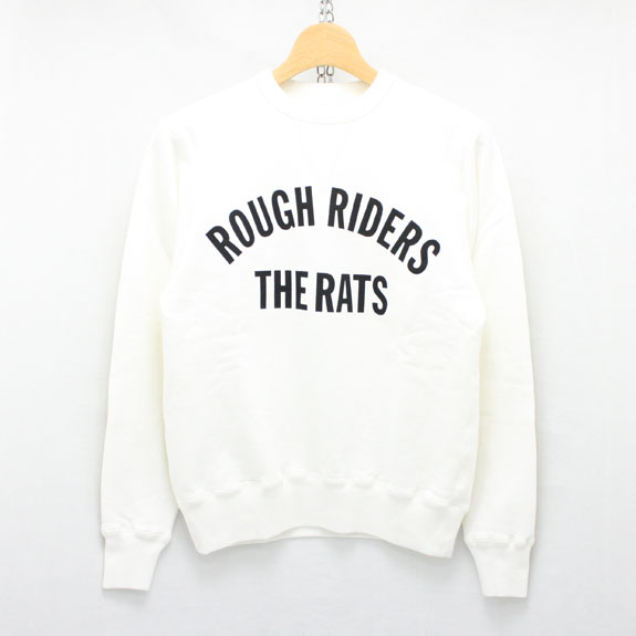RATS ROUGH RIDERS L/S SWEAT:WHITE
