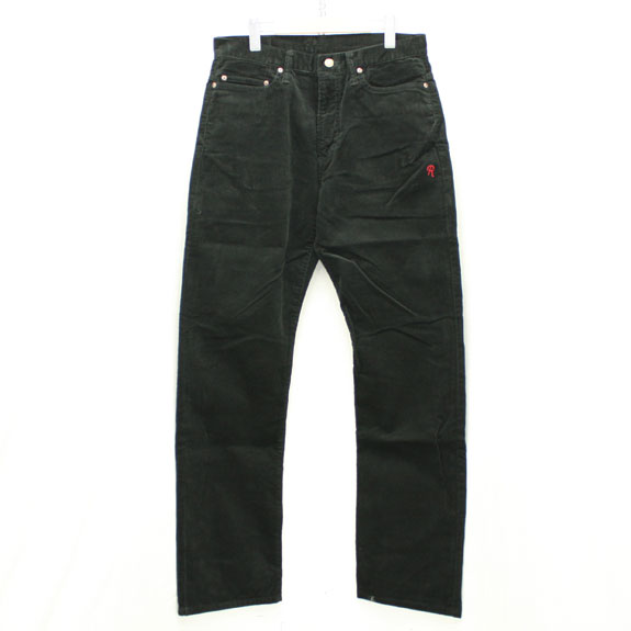 RATS CORDUROY PANTS:BLACK
