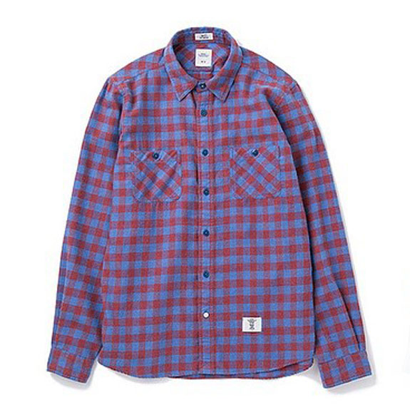 BEDWIN L/S FLANNEL BLOCK CHECK SHIRT