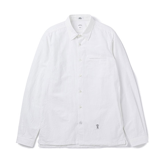 BEDWIN L/S SIDE POCKET OX SHIRT SHAW:WHITE