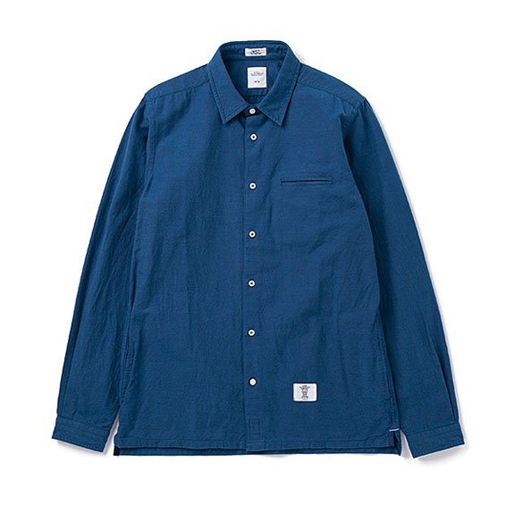 BEDWIN L/S SIDE POCKET OX SHIRT SHAW:INDIGO