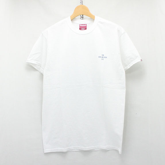 HIDE&SEEK King S/S Tee:WHITE