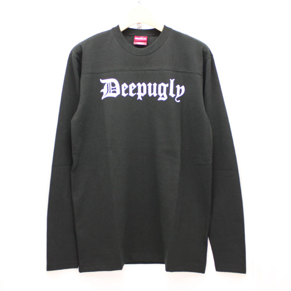 HIDE&SEEK Deep Ugly Football Shirt:BLACK