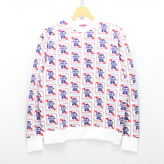 HIDE&SEEK Pub Sweat Shirt:WHITE