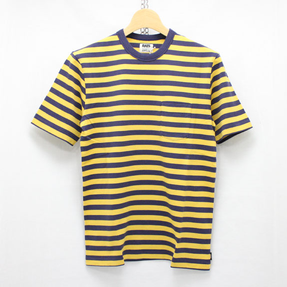 RATS YELLOW BORDER T-SHIRTS:YELLOW×NAVY