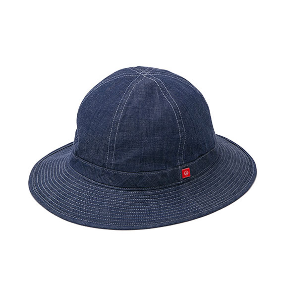 BEDWIN MILITARY DENIM HAT DELVON:INDIGO
