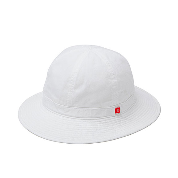 BEDWIN MILITARY DENIM HAT DELVON:WHITE