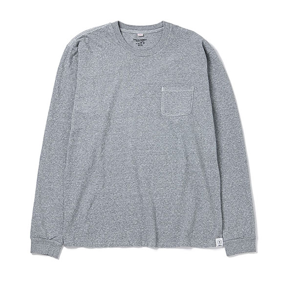 BEDWIN L/S C-NECK POCKET T JACK:GRAY