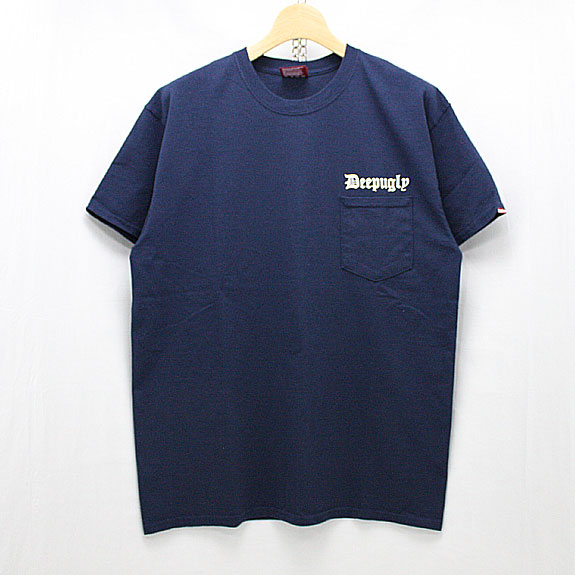 HIDE&SEEK Deep Ugly Pocket S/S Tee:NAVY