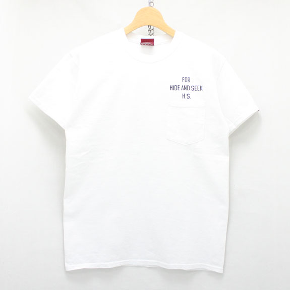 HIDE&SEEK PA FU CITY Pocket S/S Tee:WHITE