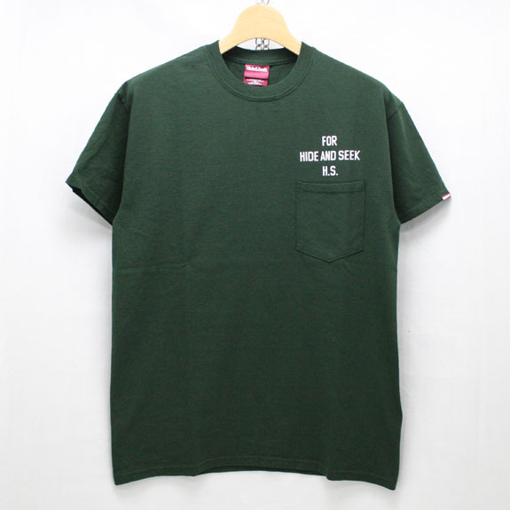 HIDE&SEEK PA FU CITY Pocket S/S Tee:GREEN