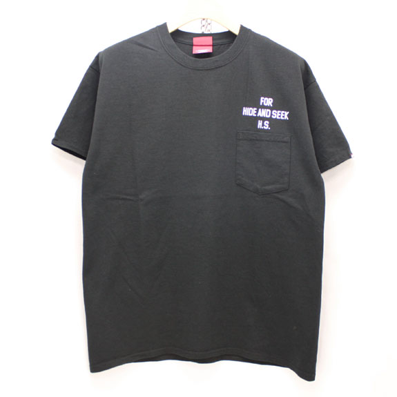 HIDE&SEEK PA FU CITY Pocket S/S Tee:BLACK