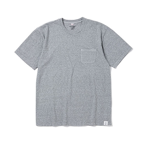 BEDWIN S/S C-NECK POCKET T JACK:GRAY