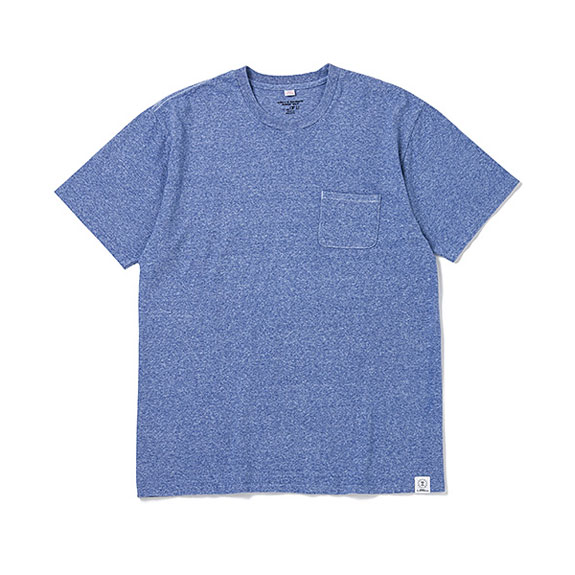 BEDWIN S/S C-NECK POCKET T JACK:BLUE