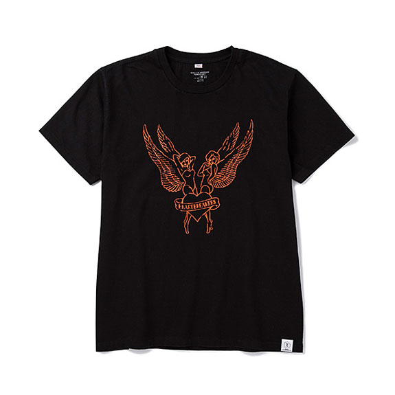 BEDWIN PRINT T BENSON:BLACK×ORANGE