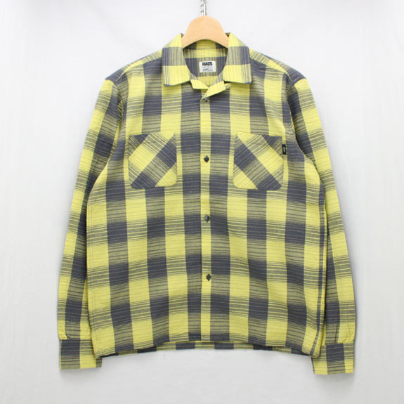 RATS YELLOW CHECK L/S SHIRTS:YELLOW CHECK