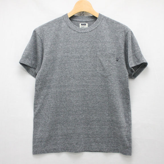 RATS TOP POCKET T-SHIRTS:TOP GRAY