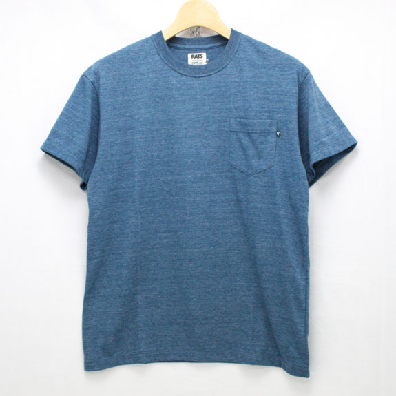 RATS TOP POCKET T-SHIRTS:TOP NAVY
