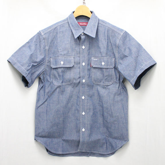 HIDE&SEEK Chambray S/S Shirt (15ss):NAVY