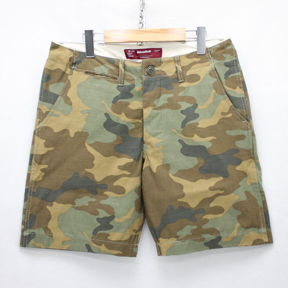 HIDE&SEEK Camo Short Pants (15ss):WOODLAND CAMO