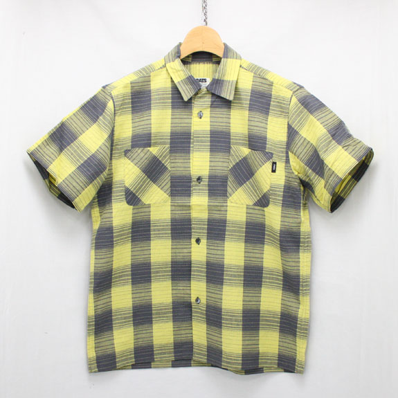 RATS YELLOW CHECK S/S SHIRTS:YELLOW CHECK