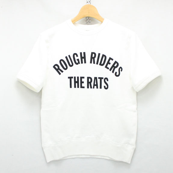 RATS ROUGH RIDERS S/S SWEAT:WHITE