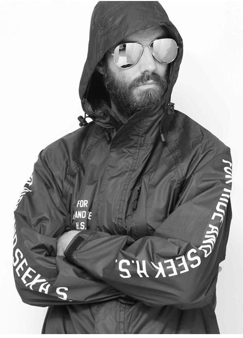HIDE&SEEK ハイドアンドシーク Packable Rain JKT:BLACK 着こなし・コーディネート