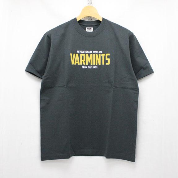 RATS VARMINTS T-SHIRTS:CHARCOAL