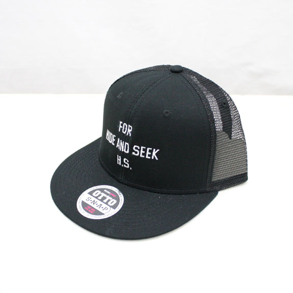 HIDE&SEEK 20th FOR H.S. Mesh CAP (SOLID):BLACK